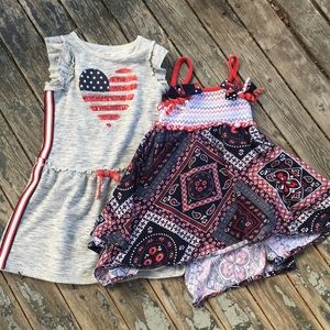Other - (3/$15) 2 Patriot Girls Dresses sz 4